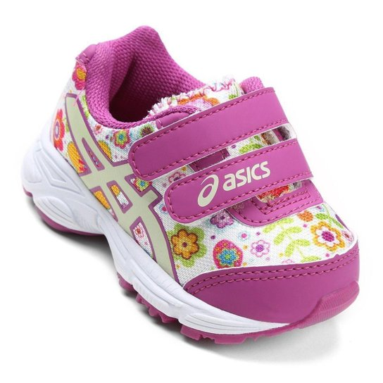 3a123d901bc Tênis Infantil Asics Sugar Baby 2 Ts - Branco e Lilás - Compre Agora ...