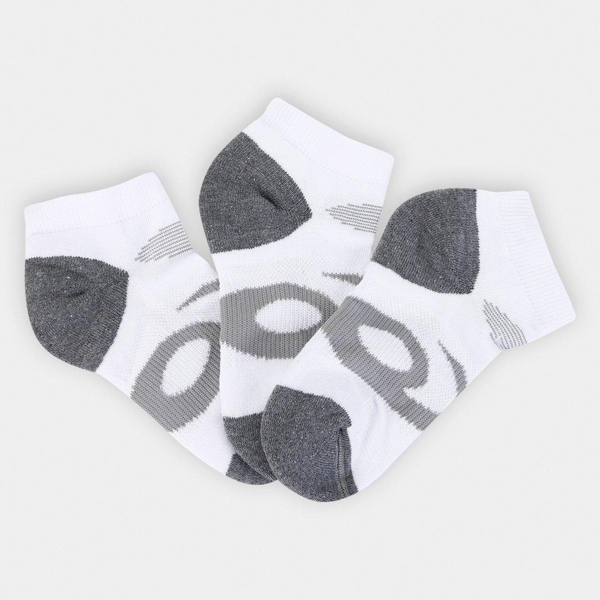 Kit Meia Infantil Asics Cano Curto Youth Quick Lyte Cushion Quarter 3 Pares