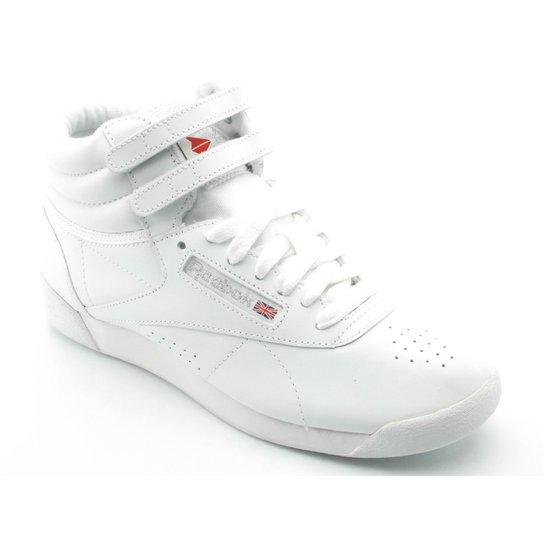 8c08f31a2d3 Tênis Reebok Freestyle Hi Branco 2431 - Branco - Compre Agora