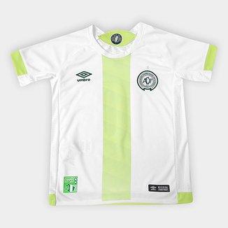 Camisa Chapecoense Infantil II 17 18 nº 10 Torcedor Umbro b4ba01f340f21