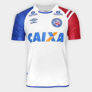 Camisa Bahia I 17 18 s nº C  Patrocínio - Torcedor Umbro Masculina 3b50850a8c392