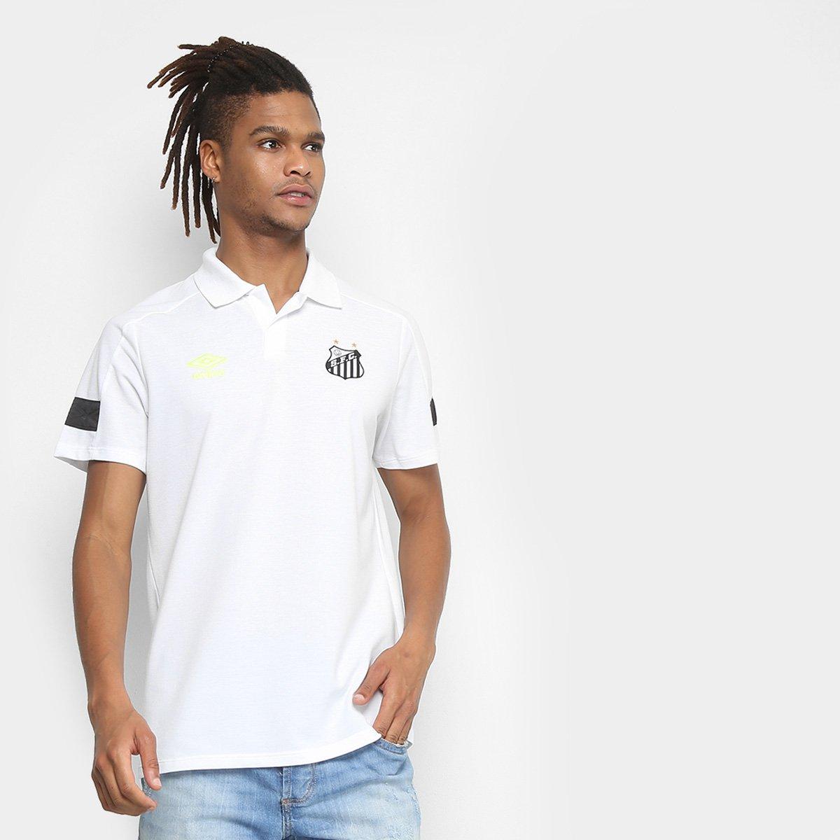 c7494268b20e5 Camisa Polo Santos 2018 Viagem Umbro Masculina