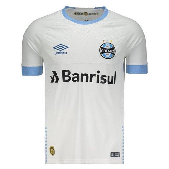860c34e90 Camisa Umbro Grêmio II 2018 N° 10 Jogador Masculina - Branco ...
