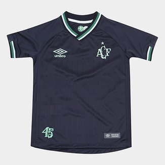 Camisa Chapecoense Infantil III 2018 s n° Torcedor Umbro 208fa313ca3