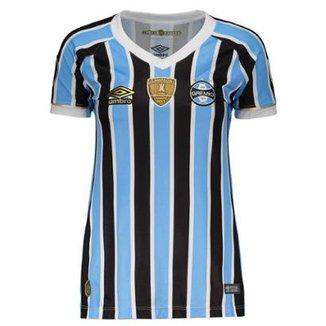 Camisa Umbro Grêmio I 2018 Libertadores Feminina 20c070a33c481