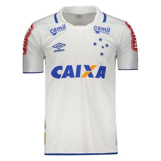97955dcae7 Camisa Umbro Cruzeiro II 2017 Com Patrocínio Masculina - Branco ...