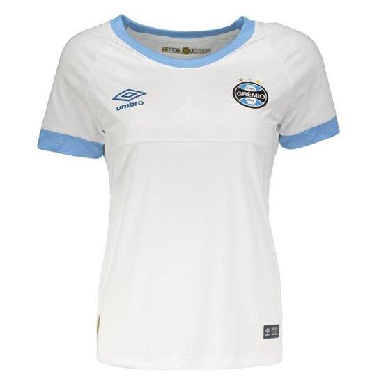647eeb52a9d5d Camisa Umbro Grêmio II 2018 Feminina - Branco - Compre Agora