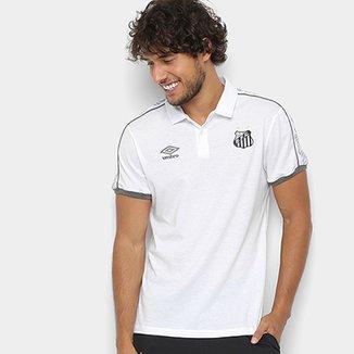 Camisa Polo Santos 2019 Viagem Umbro Masculina 08936c1b849