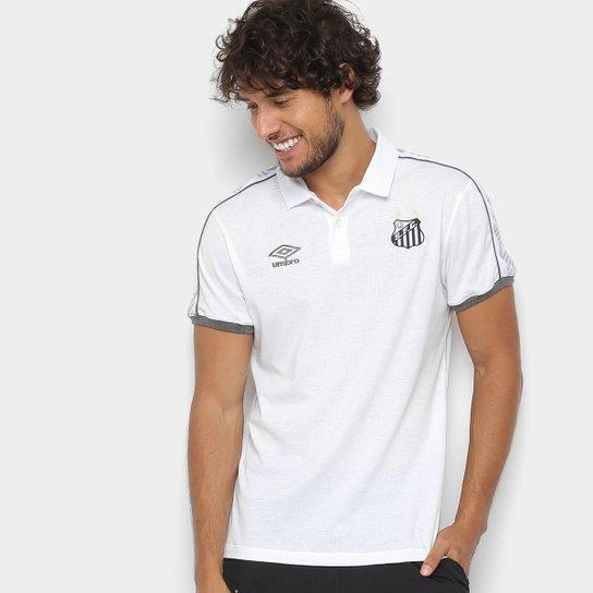 Camisa Polo Santos 2019 Viagem Umbro Masculina - Branco - Compre ... 037e0b3f0449b