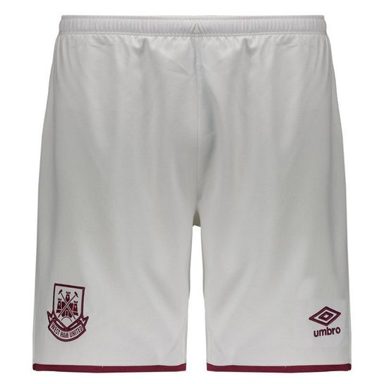 Calção Umbro West Ham Home 2016 Masculino - Branco - Compre Agora ... 757c0c8035544