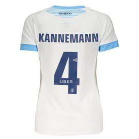 7a21851a8ec8d Camisa Umbro Grêmio II 2018 Nº 4 Kannemann Feminina