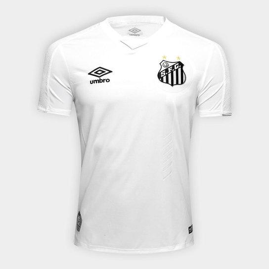 417207689 Camisa Do Santos Umbro I 19 20 S Nº Masculina - Branco