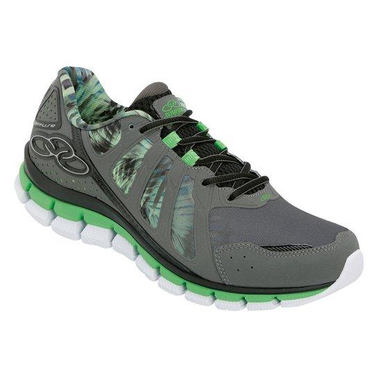 c1e45b57b3 Tênis Olympikus Diffuse Colors Masculino - Cinza e Verde - Compre ...