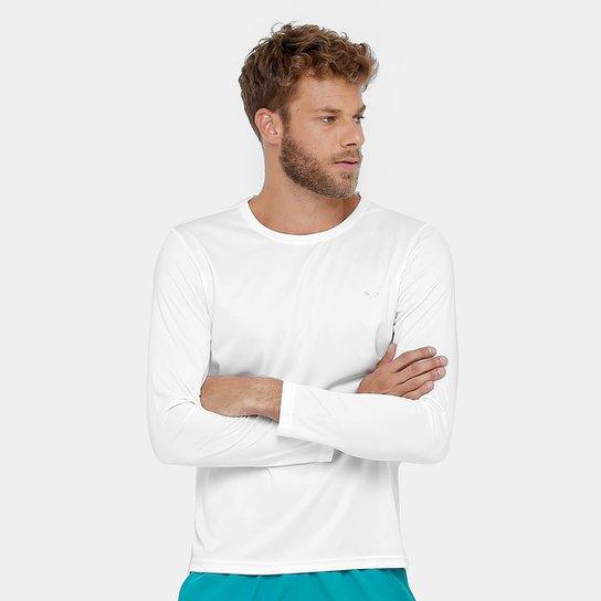 Camiseta Olympikus Essential Proteção UV 50+ Manga Longa Masculina - Branco cd4294e7abf69