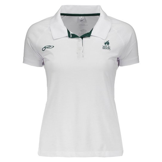 152b05f7bf223 Camisa Polo Brasil CBV 2016 Olympikus Feminina | Netshoes