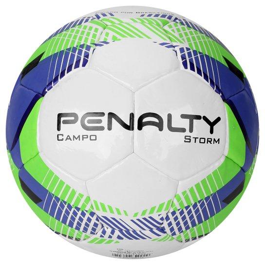 7602a5fcfc Bola Futebol Penalty Storm 5 Campo - Branco e Verde - Compre Agora ...