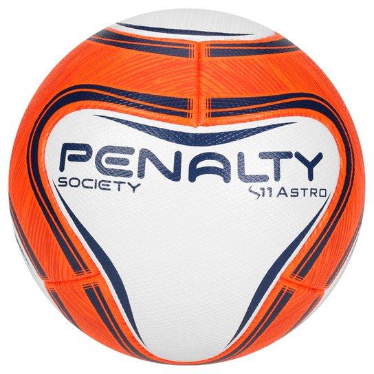 Bola Futebol Penalty S11 Astro VI Society - Branco+Laranja 6de89c1ea290d