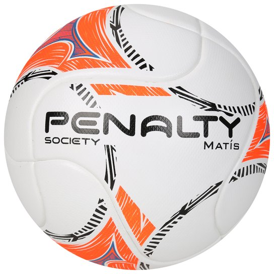 cd6b7182e73f0 Bola Futebol Penalty Matis Term 6 Society - Branco+Laranja