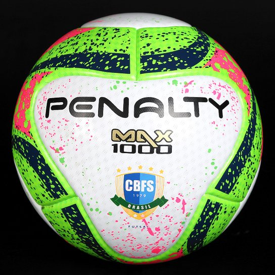 Bola Futsal Penalty Max 1000 Pró 7 Termotec - Branco+Verde Claro 4ea02c2bd43c4
