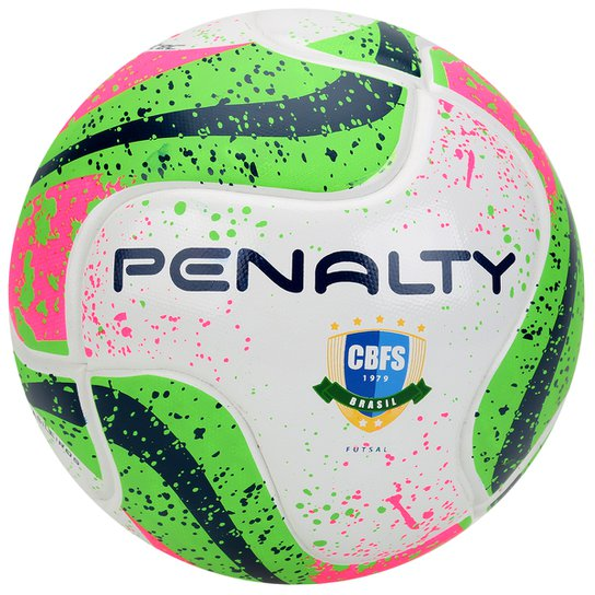 aede32c4c5 Bola Futsal Penalty Max 50 Termotec 7 CBFS - Branco+Verde Claro