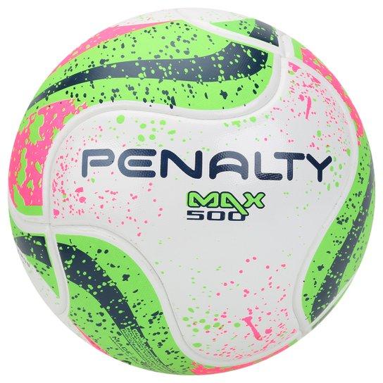 51e008352d9be Bola Futsal Penalty Max 500 Termotec 7 - Branco+Verde Claro