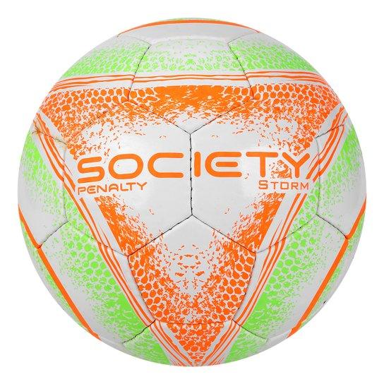 7aecf050c2 Bola Futebol Society Penalty Storm C C VIII - Branco e Verde ...