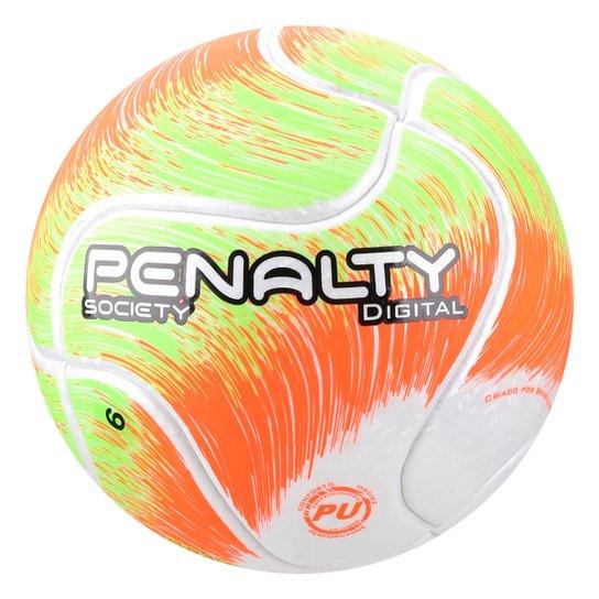 c0134f2c53 Bola de Futebol Society Penalty Digital VIII - Branco e Verde ...