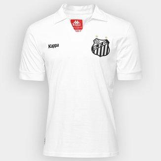 Camisa Retrô Santos Kappa Masculina 314b754fe9f87