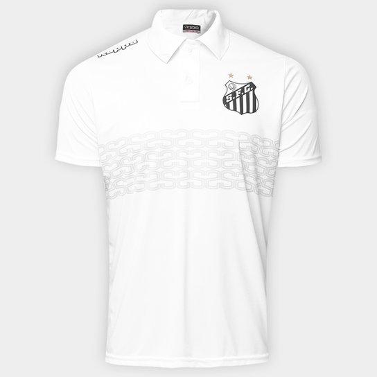 Camisa Polo Santos Geraldino 17 Masculina - Branco - Compre Agora ... 45b1ddb51414d