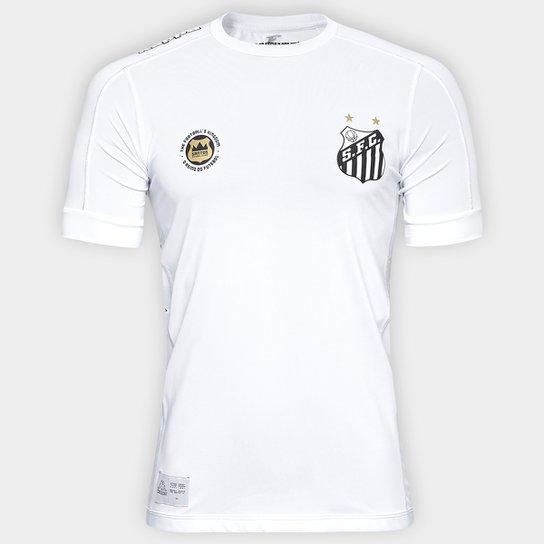c9c8a3d2b4 Camisa Santos Kombat I 17 18 s nº Jogador Kappa Masculina - Branco ...