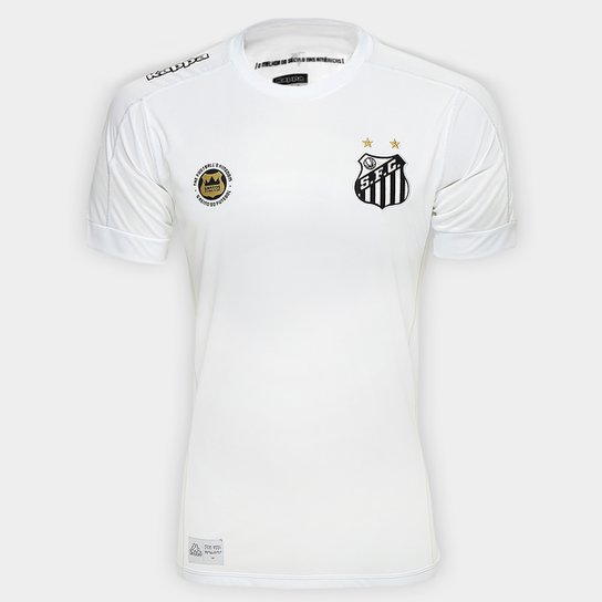 2e71a2ab3d Camisa Santos I 17 18 s nº Torcedor Kappa Masculina - Branco ...