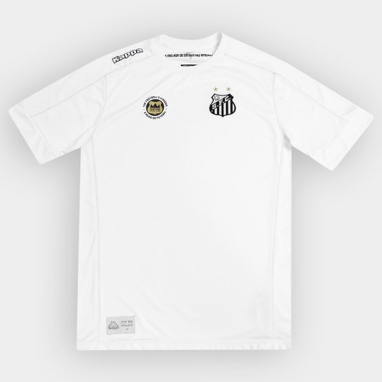 8cc95f0a44045 Camisa Santos Infantil I 17 18 s nº Torcedor Kappa - Compre Agora ...