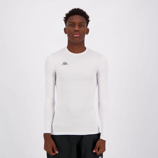 Camiseta Kappa Térmica Grip Manga Longa Masculina - Branco - Compre ... 3d7cda56d47d4