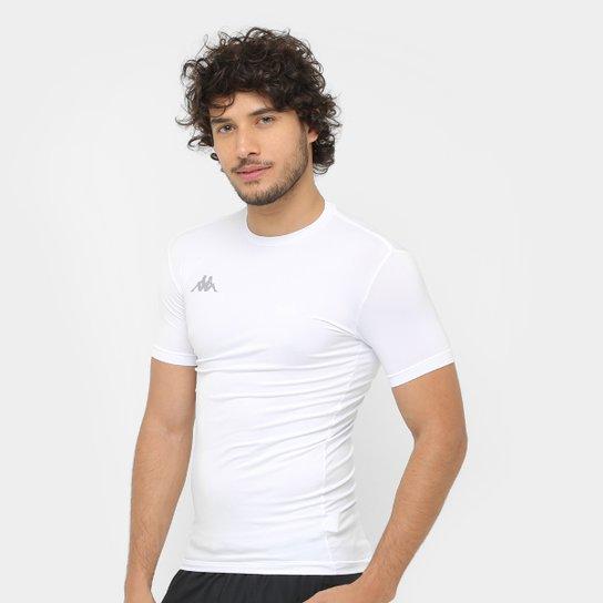 Camiseta Kappa Térmica Embrace Masculina - Branco - Compre Agora ... 0dbf4360d1bc2