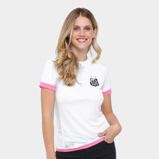 a1b70d4958c24 Camisa Santos I 17 18 s nº Réplica - Torcedor Kappa Feminina - Branco