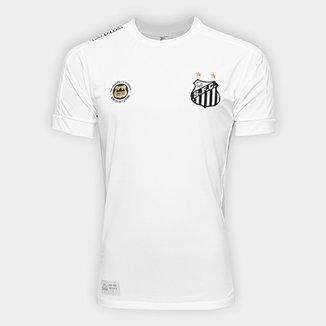 52a5b0083da6f Camisa Santos I 17 18 s nº Réplica - Torcedor Kappa Masculina