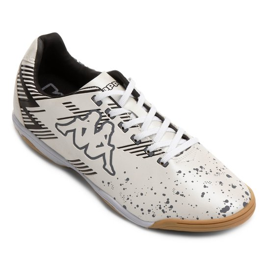 Chuteira Futsal Kappa Volturno - Gelo e Preto - Compre Agora  1ded1f1d74a83