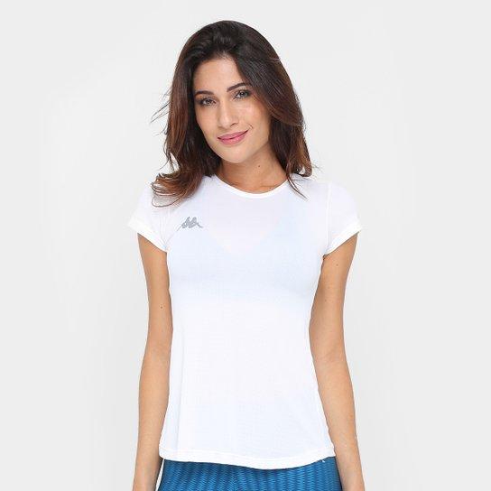 c2709a2198 Camiseta Kappa De Crepe Feminina - Branco