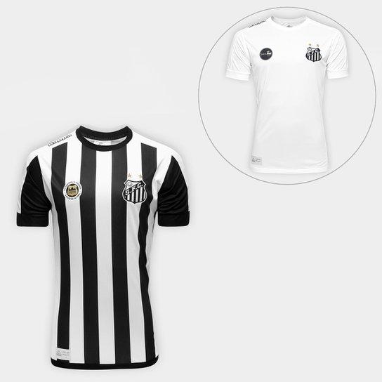 618ba99e22ace Kit Camisa Santos I e II 17 18 Réplica Masculina - Compre Agora ...