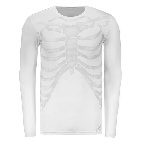 Camisa Térmica Kappa Caveira Manga Longa Branca - Compre Agora ... 768c248897b51