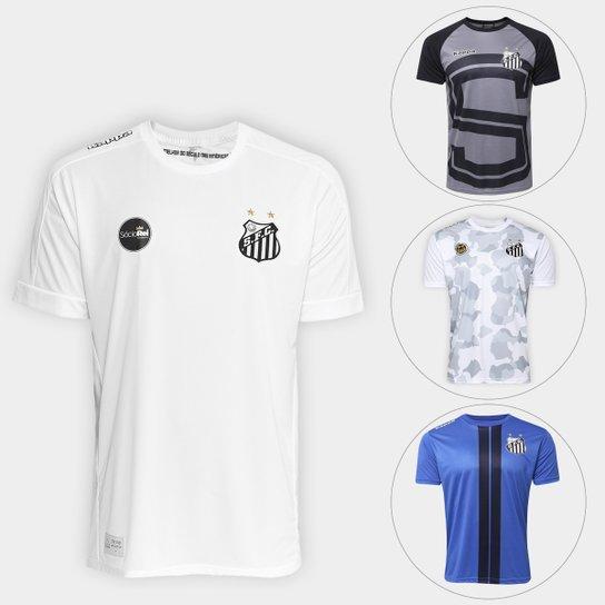 Camisa Santos I Réplica 17 18 Torcedor Kappa + Camiseta Santos Lima 17 -  Branco cb3bafa0bb147