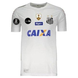 e89c74046a Camisa Kappa Santos I 2017 Libertadores N°36 Copete Masculina
