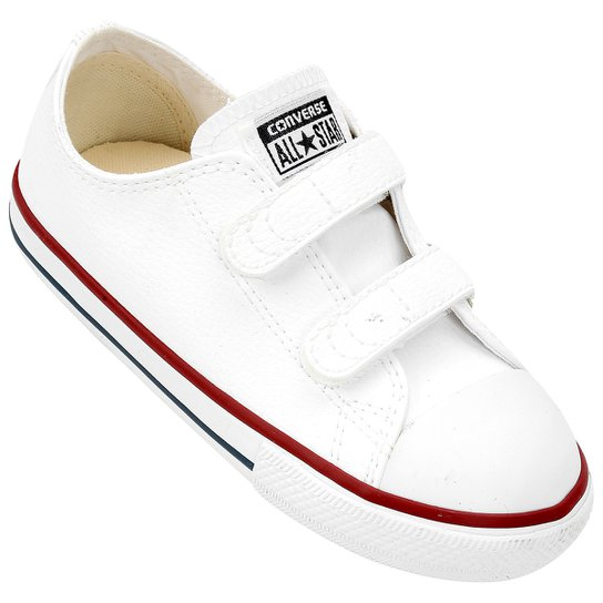2d035f56af2 Tênis Infantil Converse Chuck Taylor All Star 2 Velcros Baby - Branco
