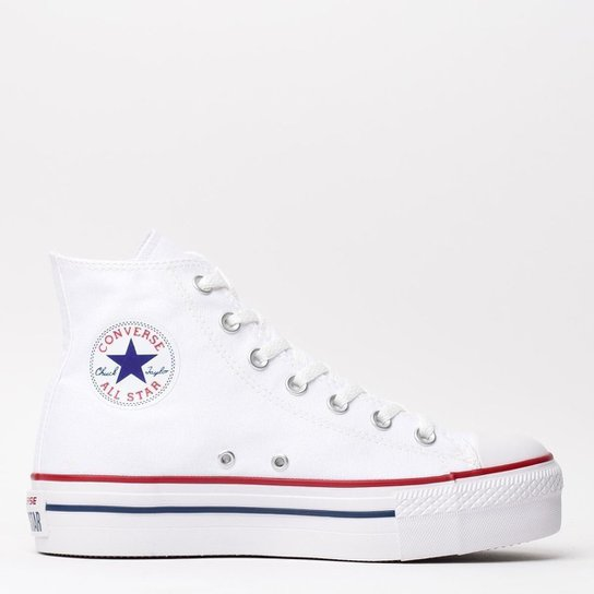f74f3dd754e Tênis Converse Chuck Taylor All Star Platform - Branco - Compre ...