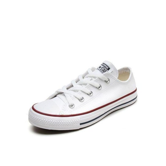 fd6fb16d808a2 Tênis Converse Chuck Taylor All Star Ox Couro - Branco | Netshoes