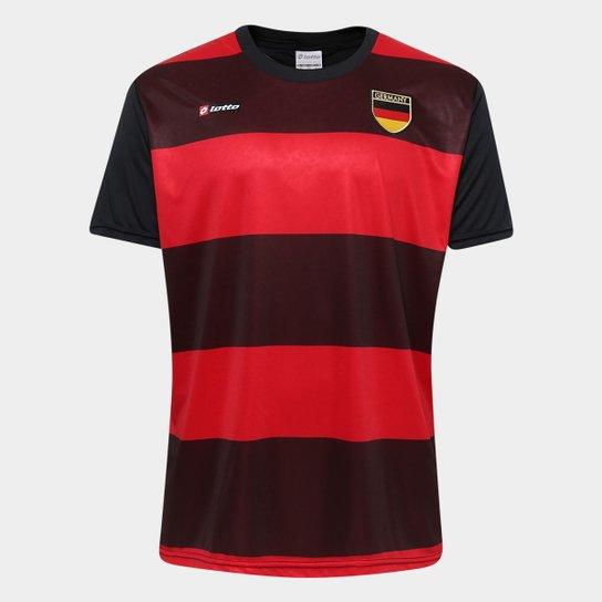 Camisa Alemanha 2014 n° 10 Lotto Masculina - Preto e Vermelho ... 8ee4e1a75d3c0