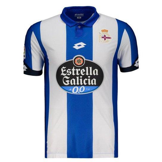 8da9776e3 Camisa Lotto Deportivo La Coruña Home 2017 Masculina - Branco ...