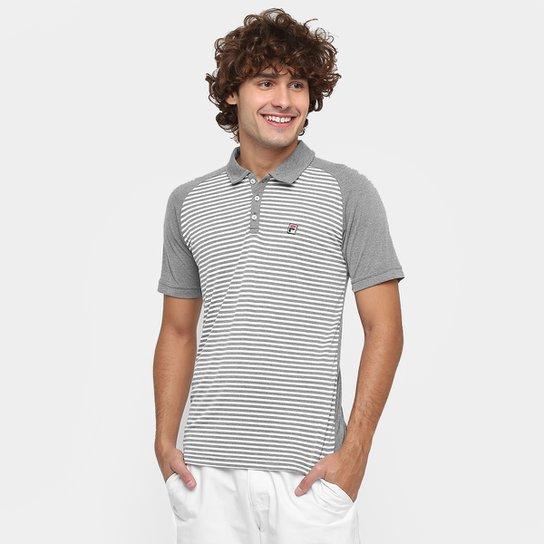 a55f68dabd0bc Camisa Polo Fila Wolf II - Cinza - Compre Agora