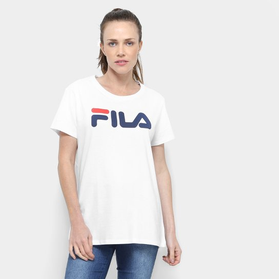 Camiseta Fila Estampada Letter III Feminina - Branco - Compre Agora ... 3a02e05a8c8cd