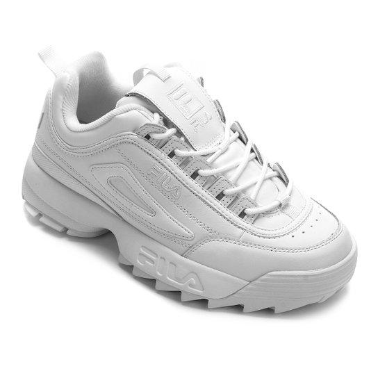 ec546e2f37 Tênis Fila Disruptor II Premium Feminino - Branco   Netshoes